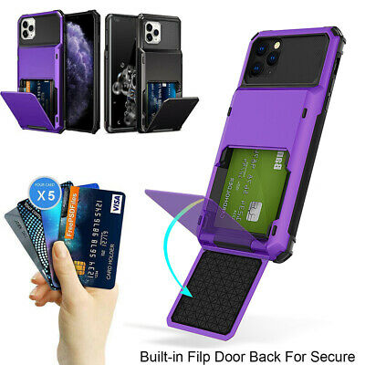AU8.99 • Buy For IPhone 11 12 Pro Max XR 7 8 Plus SE Wallet Card Slot Holder Armor Case Cover