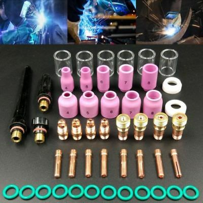 £23.49 • Buy UK 49pcs TIG Gas Lens Collet Body Consumables Kit Fit WP 17 18 26 Welding Torch
