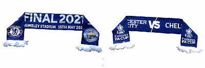 £4.99 • Buy Chelsea Leicester City Scarf Adult FA Cup Final Friendship Football Scarf - New