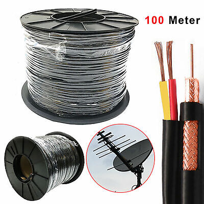 £27.95 • Buy High Quality 100 Meter Shotgun RG59 Video And 2 Power CCTV Cable Lead Security