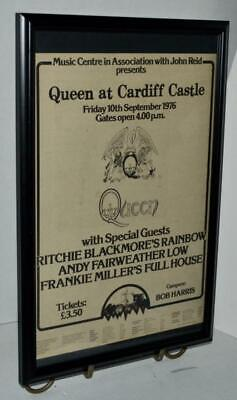 $49.99 • Buy Queen 1976 Queen At Cardiff Castle Framed Promotional Concert Poster / Ad
