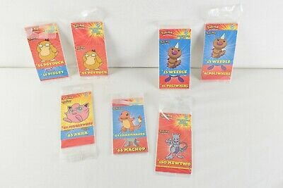$24.99 • Buy PARTY STICKERS 1999 Pokemon Nintendo Lot Of 7 Sealed Packs With 4 In Each Pack