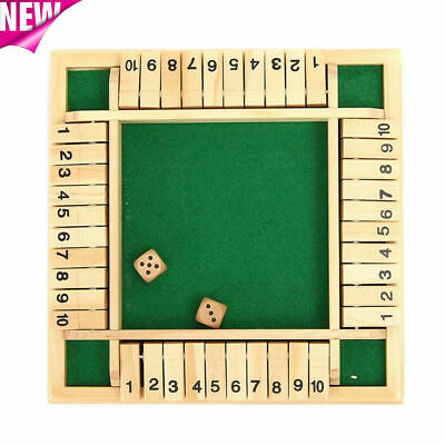 £8.98 • Buy 4 Players Shut The Box Wooden Traditional Pub Dice Family Kids Childrens Game