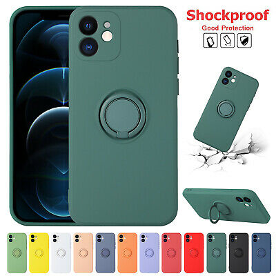 AU9.66 • Buy For Apple IPhone 12 11 Pro Max XS XR 8 7+ Silicone Ring Holder Stand Case Cover