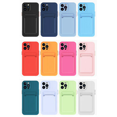 AU5.45 • Buy TPU Case Cover With Card Slot Holder For IPhone 12 Pro Max 11 XS X XR 8 7+