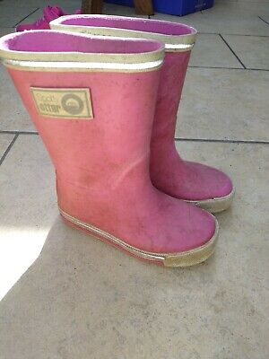 £7.99 • Buy Girls Pink Spotty Otter Size UK 7 Infant Wellies Well Used