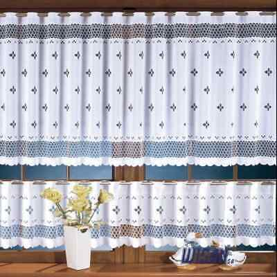 £3.60 • Buy Kitchen Curtains Cafe Net Curtain Lace White Window Decor Sold By The Metre