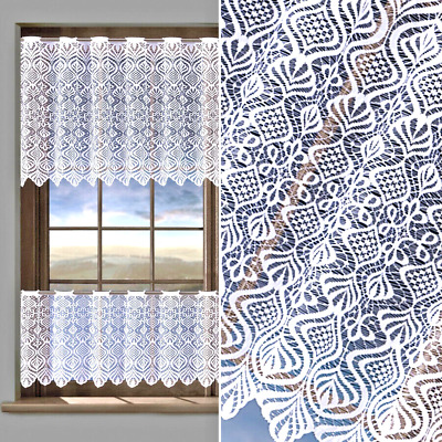£4.20 • Buy Kitchen Curtains Cafe Net Curtain Lace White Window Decor Sold By The Metre