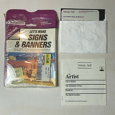 £18.15 • Buy Let's Make Signs & Banners Commodore 64/128  5.25  Complete Vintage Software