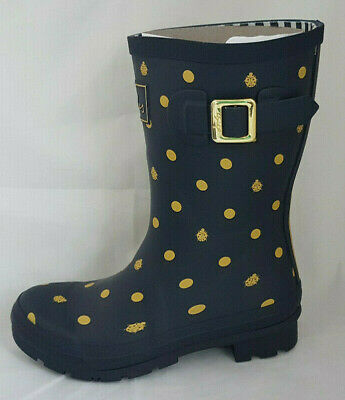 £41.99 • Buy Joules 209675 Molly Welly Navy Ladybird Mid Height Wellingtons Wellies Size 5