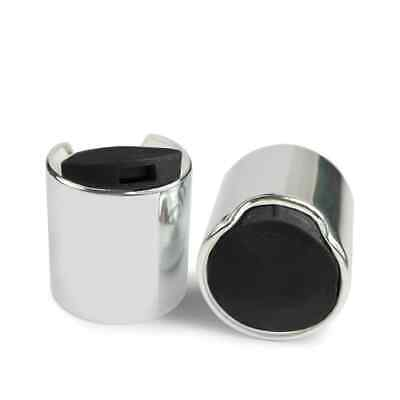 £0.99 • Buy Shiny Silver/Black 24mm Screw On Disc Top Cap To Fit 24/410 Neck Size ANY AMOUNT