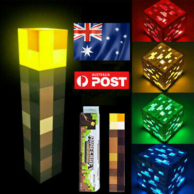 AU23.99 • Buy Minecraft Light Up Mountable Wall Night Torch LED Lamp Kids Fun Toy Gamer Gift