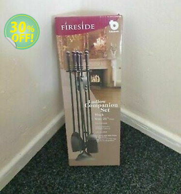 £44.99 • Buy 5 Piece Fire Companion Set Black Fireside Fireplace Tools Fully Assembled