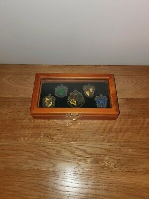 £21.50 • Buy Rare 5pc Harry Potter Badge Set In Wooden Display Case. Brand New. Hogwarts.