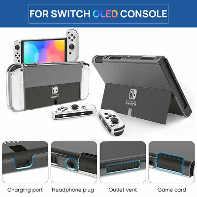 AU19.99 • Buy For Switch Nintendo OLED Console Clear Hard Case Slim HeavyDuty Shockproof Cover