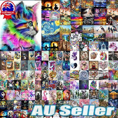 AU11.25 • Buy Diamond 5D Painting Embroidery Cross Craft Stitch Pictures Arts Kit Mural Decor