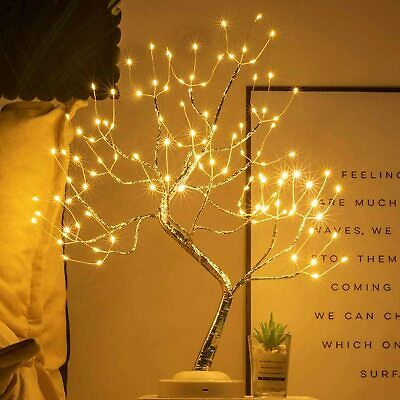 £14.99 • Buy LED Pearl Blossom Tree Bonsai Light Table Bedside Lamp Room Party Home Decor