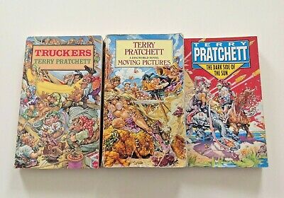 £9.99 • Buy Terry Pratchett Moving Pictures, Truckers, The Dark Side Of The Sun Books Corgi