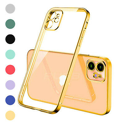 AU10.13 • Buy SHOCKPROOF Plating Clear Case For IPhone 13 12 11 Pro MAX Mini XR XS X 7 8+Cover