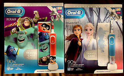 AU74.54 • Buy Oral B 2 Kids Electric Toothbrush Frozen + Pixar Gift Pack Limit Edition + Cases