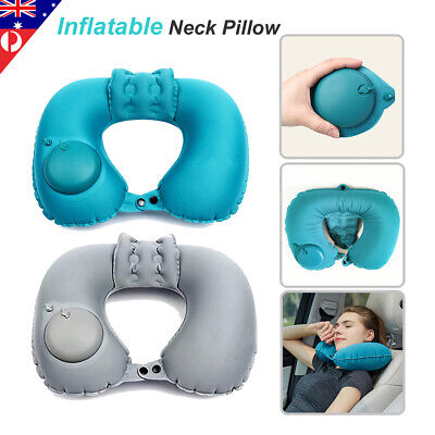 AU13.98 • Buy 1x Portable Air Inflatable U Shaped Neck Pillow For Easing Muscle Pain Cervical