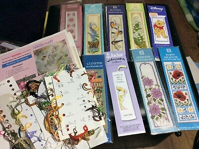 £10 • Buy 10 Bookmarks Cross Stitch Chart & Leftover Threads.L@@K