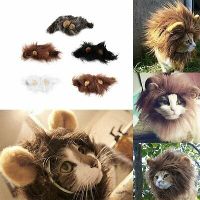 £6.25 • Buy Pet Costume Lion Mane Wig For Cat Halloween Christmas Party Dress Up With Ear UK