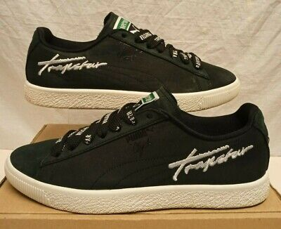 £29.99 • Buy Puma Clyde X Trapstar Trainers Black White Rare Edition Size 8 Eu 42 Hardly Used