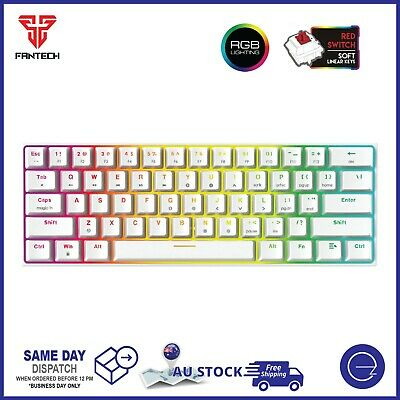 AU69.95 • Buy Gaming PC Keyboard Hot-Swappable RGB Backlit 60% Compact Mechanical MK857-White