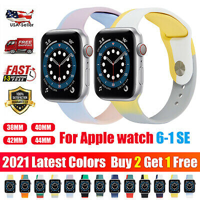AU11.73 • Buy Color Silicone Sport Band Strap For Apple Watch 654 SE 321 IWatch 38/40/42/44mm
