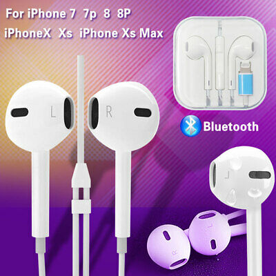 AU13.45 • Buy Wired Bluetooth 8pin Earphones Headphones Mic For Apple IPhone11 8 7 X Xs XR 12