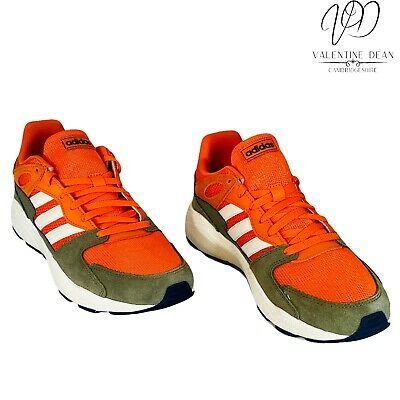 £53.99 • Buy Adidas Crazy Chaos Men's Running Shoes Orange And Grey Leather Sneakers Size 10.