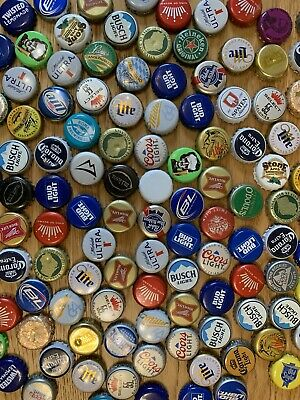 £13.80 • Buy 200 Rare Used Beer Soda Bottle Top Caps Man Cave Or Crafts Project USA
