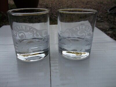 £8 • Buy Bailey's Irish Cream Pair Of Tumblers Quality Items With Heavy Bases Very Good