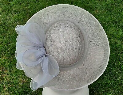 £20 • Buy Debut Pale Lilac And Grey Saucer Wedding Hat/fascinator