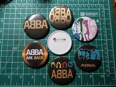 £2.05 • Buy ABBA  Pop Group Button Pin Badge 58mm & 25mm 6 Choices Retro Music