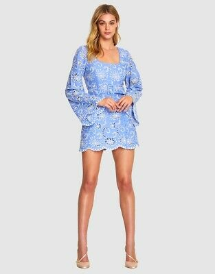 AU139.99 • Buy ALICE MCCALL  Obscurity  Blue Embroided Womens Dress 6