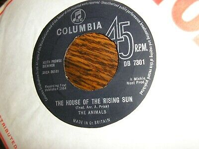 £2.99 • Buy The Animals House Of The Rising Sun / Talkin' Bout You U.k Col   Ex