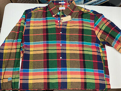 £39.94 • Buy Gant Rugger Mens XL Long Sleeve Fall Madras New With Tags