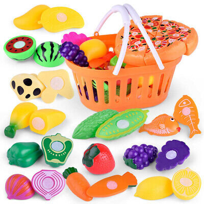 £7.99 • Buy 6-24pc Kids Pretend Role Play Kitchen Fruit Vegetable Food Toy Cutting Set Gift