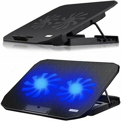 AU33.89 • Buy 11 -17  Laptop Cooling Fan Stand Gaming Notebook Quiet Cooler Adjustable Height