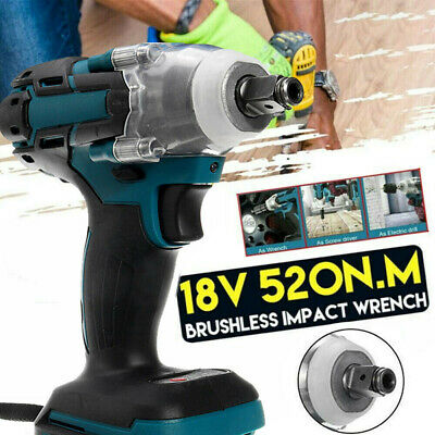 £19.98 • Buy 520nm Electric Cordless Impact Wrench 1/2  Brushless Driver Only For MAKITA New