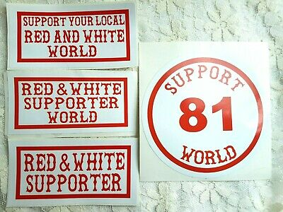 £7.50 • Buy SUPPORT 81 WORLD HELLS ANGELS ENGLAND 4x Stickers Pack BIG RED MACHINE