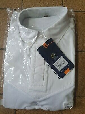 £16 • Buy Aubrion Long Sleeve Tie Show Shirt UK 14 16 Large White Hunting Jumping .