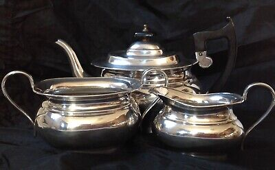 £75 • Buy Vintage Viners Of Sheffield Silver Plated Three Piece Tea Set, A1 Quality