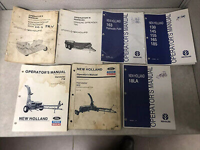 AU16.69 • Buy New Holland Tractor Implements Operator Manuals LOT Mixed Lot Of 7