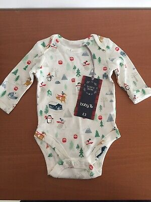 £2.75 • Buy Unisex Newborn Babygrow Up To 7.8lbs Winter Theme 100% Cotton. New With Tags