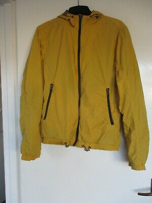 £5 • Buy Men's H&M LOGG Yellow Lightweight Hooded Jacket, Fully Lined, Front Zip - Size S