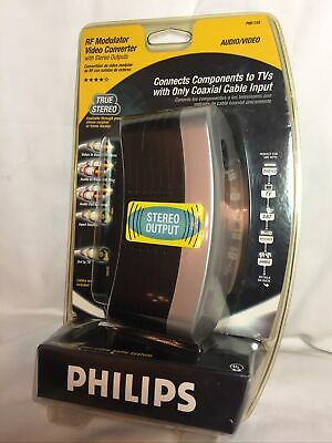 £5.46 • Buy Philips RF Modulator Video Converter PH61155 W Stereo Outputs NEW FACTORY SEALED