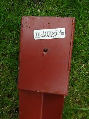 £5 • Buy Metpost Fence Steel Post Support/spike For Post 4  X 4 , Length 35 1/2
